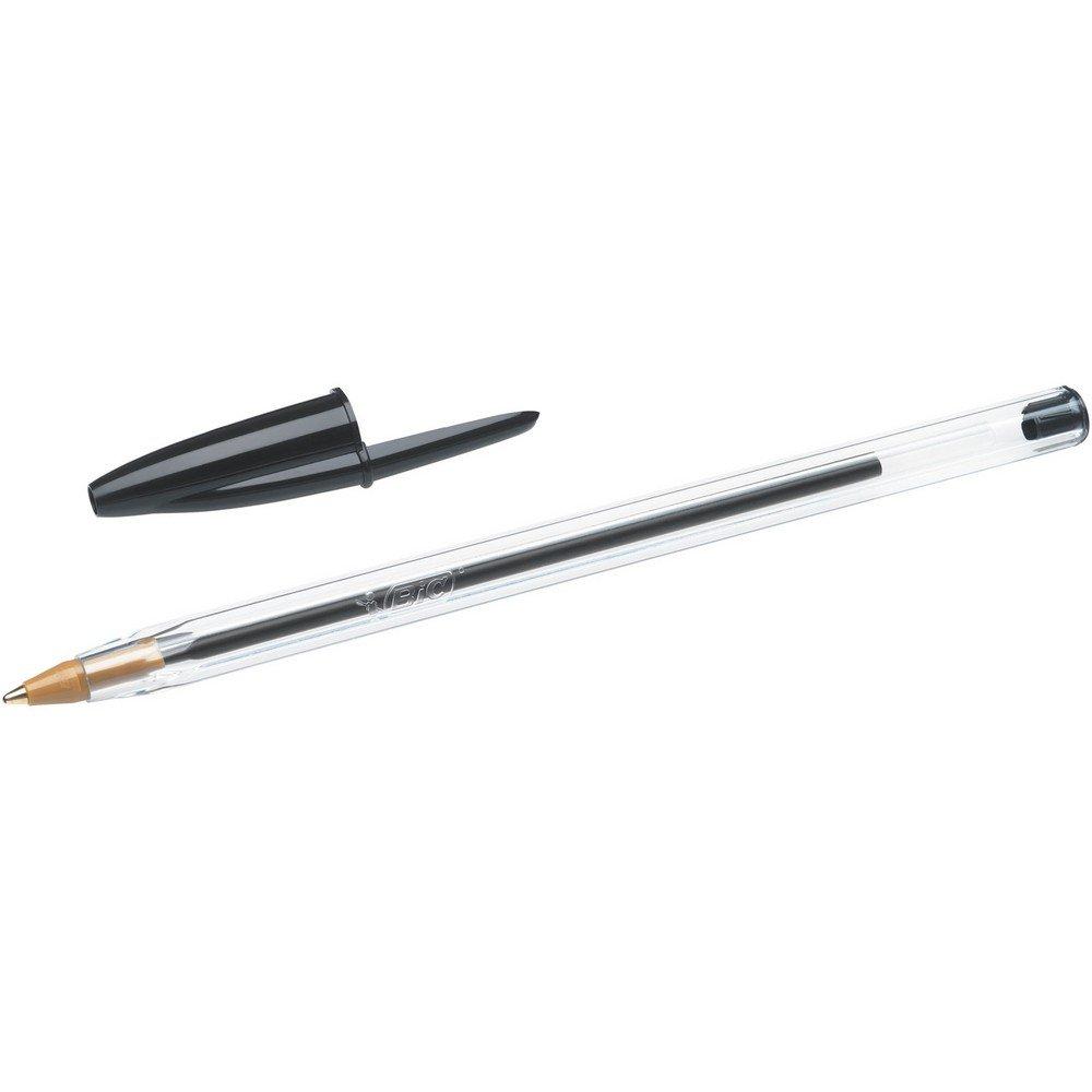 Strichst/ärke: 0,32 mm und Kugeldurchmesser: 1,0 mm sortiert Beutel /à 4 St/ück BIC Kugelschreiber Cristal Original