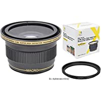 Xit 0.38x Wide Angle Fisheye Lens For Sony Alpha A5000 A5100 A6000 16-50mm