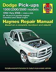 Dodge 1500, 2500 & 3500 Pick-ups (94-08) with V6, V8 & V10 Gas & Cummins turbo-diesel, 2WD & 4WD Haynes Repair Manual (Does not include specific to SRT-10 models).: 2WD & 4WD - V6, V8 and V10 gasoline engines - Cummins turbo-diesel engine