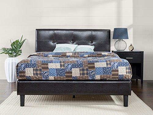 Leather Tufted Platform Bed - 2