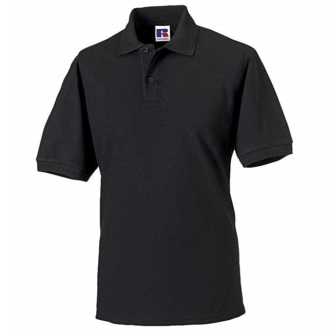 Russell Collection Hard wearing poly/cotton Mens Polo Shirt ...