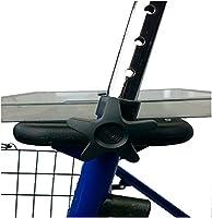 Mobiclinic, Modelo Victoria, Andador para mayores, ancianos, minusvalidos o adultos, de aluminio, ligero, plegable, con asiento y 4 ruedas, Color Azul
