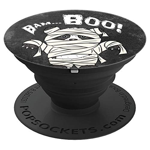 Bam-Boo! Funny Cute Panda Bear In Mummy Halloween Costume - PopSockets Grip and Stand for Phones and Tablets ()