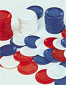 One Bag of 100 Red Plastic Poker Chips
