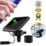 Magnetic Qi Wireless Car Charger, Nano Magnetic Qi Car Charger [Magnetic Plate][for Air Vent/Table] 10W Qi Car Phone Mount for iPhone 11 Pro(Max)/Xs Max/XR/8 Samsung Note 8/9 S10/S9/S8 All Qi-Device