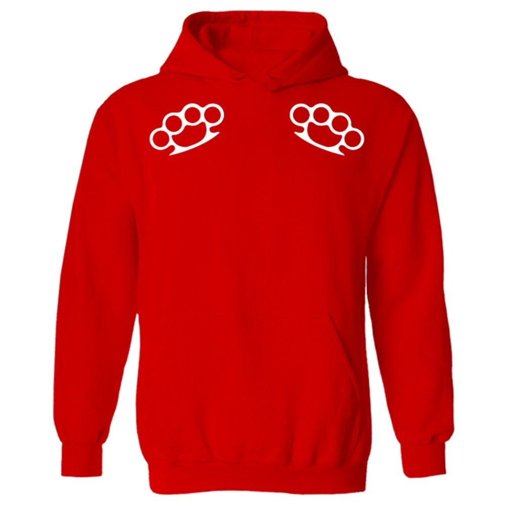 ad93fc820e8 Knuckle Dusters Traditional Tattoo Style Unisex Pullover Hoodie  Amazon.co. uk  Clothing