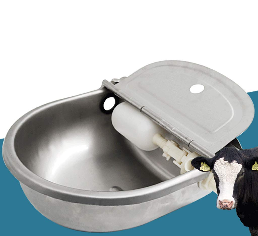 DYV Animal Automatic Drinking Water Bowl Float Valve 304 Stainless Steel Waterer Drinking Trough Durable and It Wont Rust for Large Animals Such As Cattle and Horses