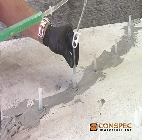 Conspec - Concrete Crack Repair Kit, Basement, Floor, Wall, Foundation, Pools, Easy to use''Crack KIT'' Epoxy Patch and Weld Concrete by Crack Kit 6-Tubes (Image #1)