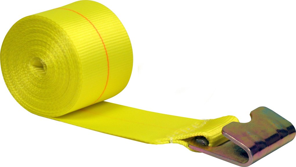 CargoLoc 82296 Ratchet Tie Downs Replacement Strap with Flat Hook, 4-Inch x 28-Inch