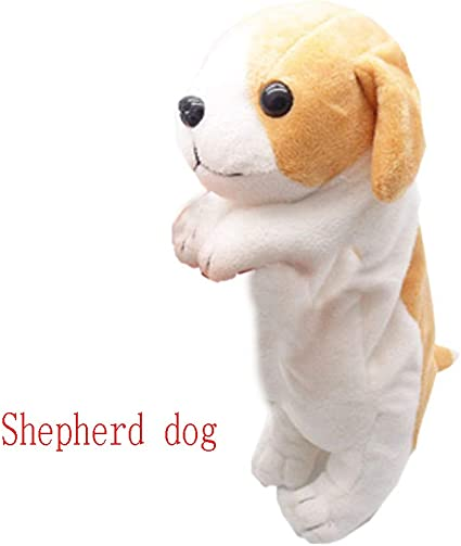 Estuche de peluche para lápices de animales, soporte para perros para niños, niñas, diseño de animales, bonito y suave caja de muñeca (perro pastor): Amazon.es: Oficina y papelería