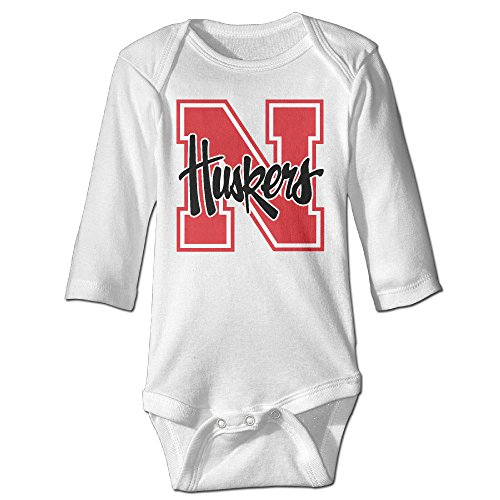 Price comparison product image OOKOO Baby's University Of Nebraska Cornhuskers Bodysuits White 18 Months