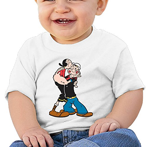 Unisex Popeye The Sailor Kiss Baby Short T Outfits (Baby Popeye)