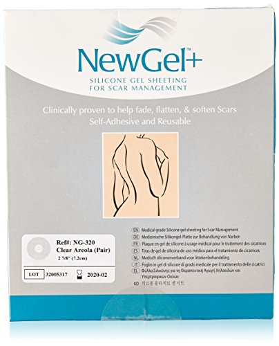 NewGel+ Silicone Gel Sheeting for Scar Management - Areola Clear (1 pair per box)