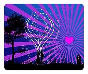 Romantic Love Design Rectangular Mouse Pad They Dance in the Dark Night by icecream design