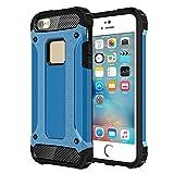iPhone SE 5S 5 Tough X-Armour Case - Blue