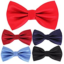 Multicolor Men Boys Pet Dog Tuxedo Dress Adjustable Neck Bowtie Bow Tie Collar 5pcs Mixed Lot Set #4