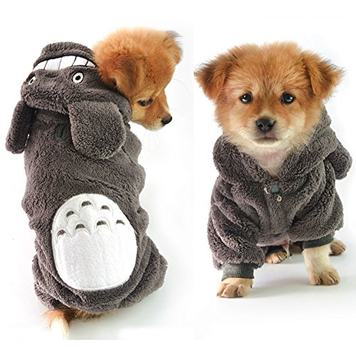 [Delight eShop Warm Hoodie Costume Dog Clothes Pet Jacket Coat Puppy Cat Apparel Winter (M)] (Star Wars Dog Costumes Ewok)