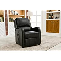 Myco Furniture Aria Bonded Leather Black Power Recliner