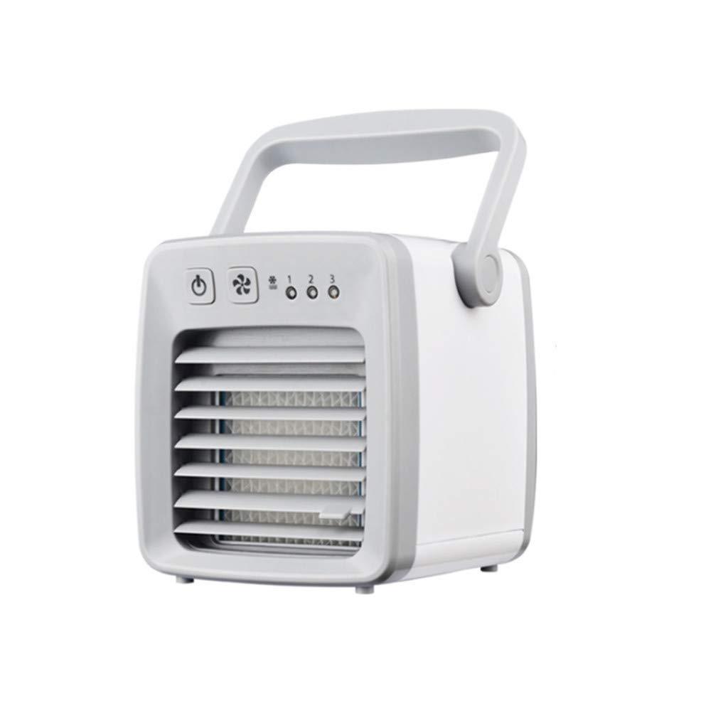 Overmal USB Charging Air Conditioner Fan Mini Portable Refrigerator Air Cooler Nano Fan (Grey)