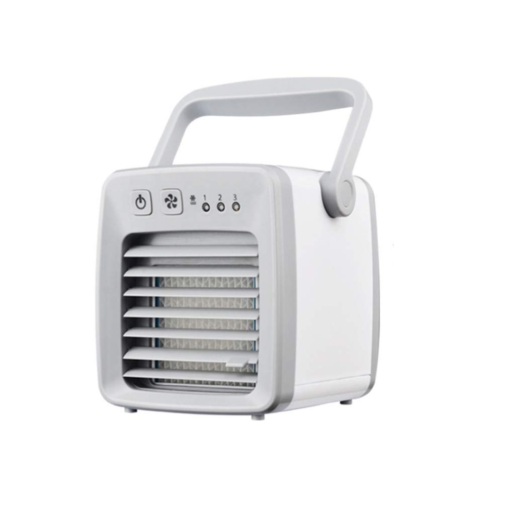 WONdere Personal Space Air Conditioner, Mini USB Personal Space Air Cooler, Humidifier, Purifier, Desktop Cooling Fan (Gray)