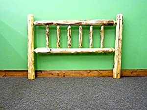 Midwest Log Furniture - Rustic Log Headboard - Queen