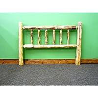 Midwest Log Furniture - Rustic Log Headboard - Queen