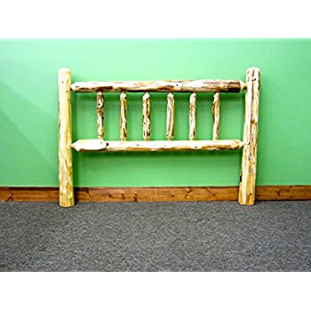 Midwest Log Furniture - Rustic Log Headboard - King