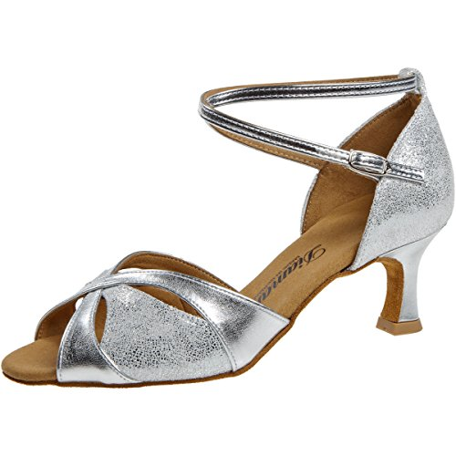 Diamant Femmes Flare Chaussures 463 5 Argent Cm 141 De Danse 077 rrFxqHwg