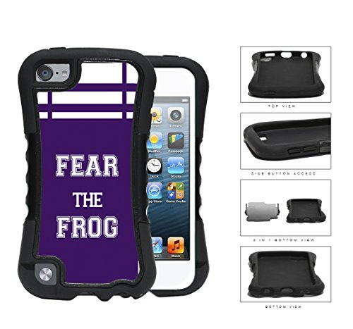 Fear The Frog School Spirit Slogan Chant iPod Touch 5 2-piece Dual Layer High Impact Black Silicone Cover