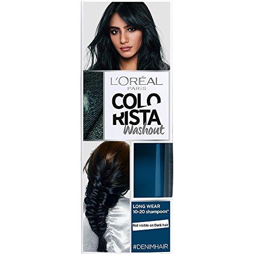 LOreal Paris Colorista Coloracion Temporal Tono Washout Denim Hair - 116 gr