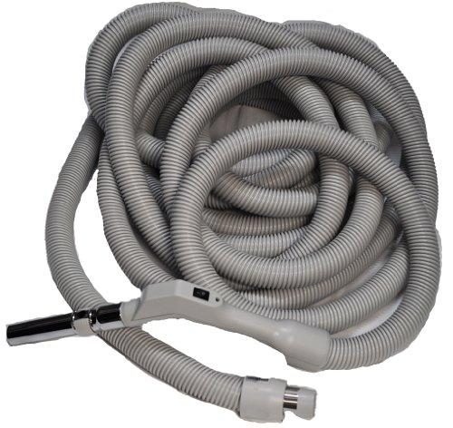Voltage Low Crushproof Hose - Central Vac Hose Assy 40Ft Low Voltage Crushproof Hose With Switch-Grey