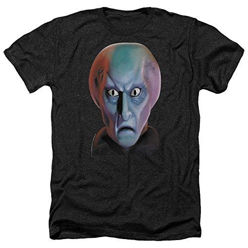 Star Trek Balok Head Mens Heather Shirt Black ()