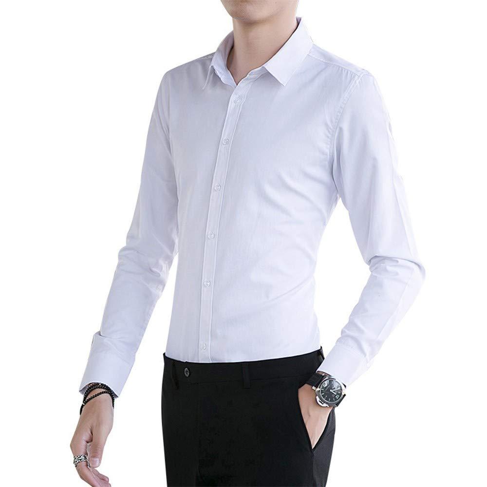 Camisa de Manga Larga para Hombre Camisa de Manga Larga cómoda de ...