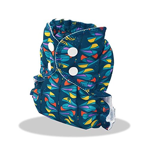 AppleCheeks 2-Size Envelope Cloth Diaper Cover (Size 2 (18-35+ lbs), Tiffany)