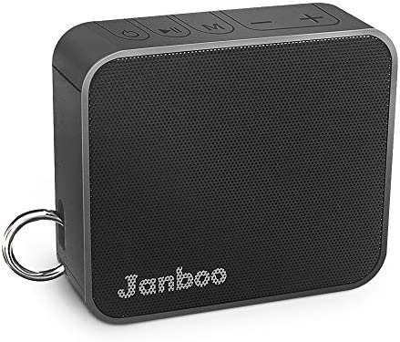 Janboo Portable Wireless Bluetooth V4.2 Speaker,with 6W Driver Enhanced Bass 33ft Bluetooth Range 10-Hours Playtime Built-in Mic,IPX6 Waterproof