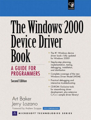 The Windows 2000 Device Driver Book: A Guide for Programmers (2nd Edition) by Prentice Hall