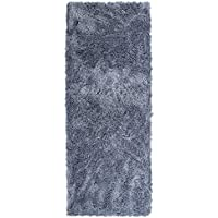 LOCHAS Super Thick Plush Shag Area Rug Unique Soft Solid Fluffy Shaggy Rug for Living Room, Dining Room and Bedroom Kids Carpet, 2.3 x 6, Grey