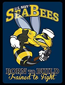 Crazy Discount U S Navy Seabees Military Vinyl Sticker Decal Outside Inside Using for Laptops Water Bottles Cars Trucks Bumpers Walls by Does Not Apply
