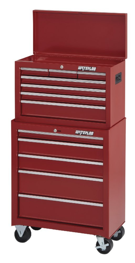 Waterloo Shop Series 5-Drawer Tool Cabinet, Red Finish, 26'' W - Designed, Engineered and Assembled in the USA by Waterloo (Image #7)