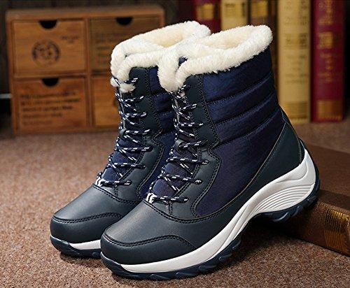 Women's Boots Shoes JiYe Snow Blue Short 76nnzIY
