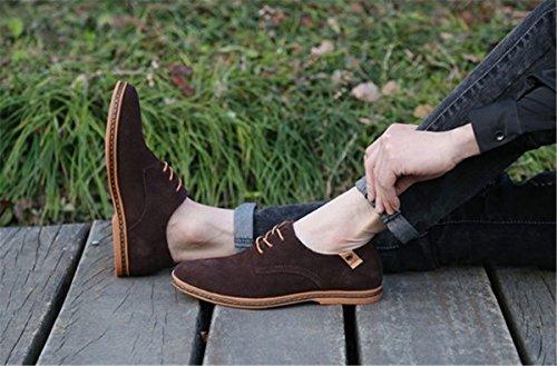 Bininbox Män Moderna Oxford Vingspets Mode Sneaker Tillfälliga Finskor Mocka Brun