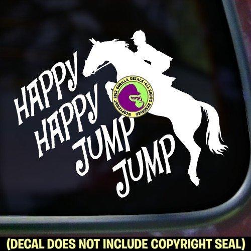HAPPY HAPPY JUMP JUMP Hunter Jumper Vinyl Decal Sticker E