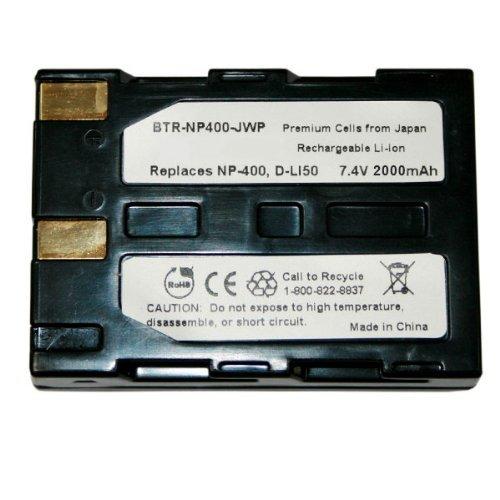 KINAMAX BTR-NP400-J 2000mAh NP-400 / D-LI50 / SLB-1674 Replacement Battery for Konica Minolta DiMAGE A1 / DiMAGE A2 / Maxxum 5D / Maxxum 7D ()