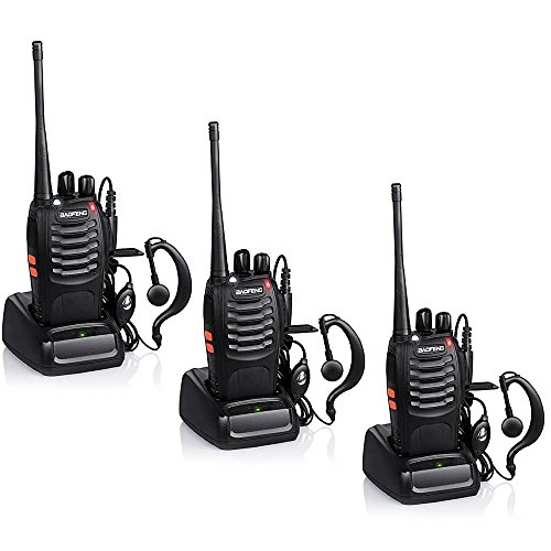 Baofeng-BF-888S-Rechargeable-3-Miles-5-km-Long-Range-5W-Two-Way-Radio-Walkie-Talkies-16-Channel-Handheld-Radio-Built-in-LED-Torch-Microphone-With-EarpiecePack-of-33-Pack