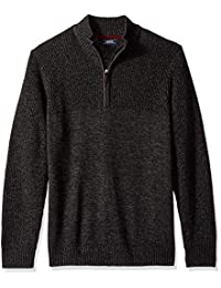 Izod Mens Saltwater Solid 1/4 Zip Sweater