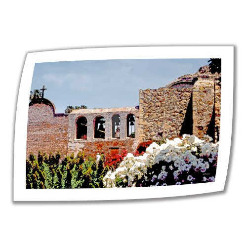 ArtWall Bells of Mission San Juan Capistrano 32 by 48-Inch Unwrapped Canvas by Linda Parker with 2-Inch Accent Border