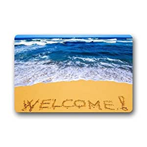 Amazon Com Doormat Machine Washable Door Mat Beach Theme
