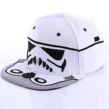 Hatrita-J Verano 2017 1pcs Unisex Gorras Snapback Cool Boy Carta Gorra de béisbol Negro Blanco Hombres Mujeres Hip-hop equipado sombreros ,blanco: ...