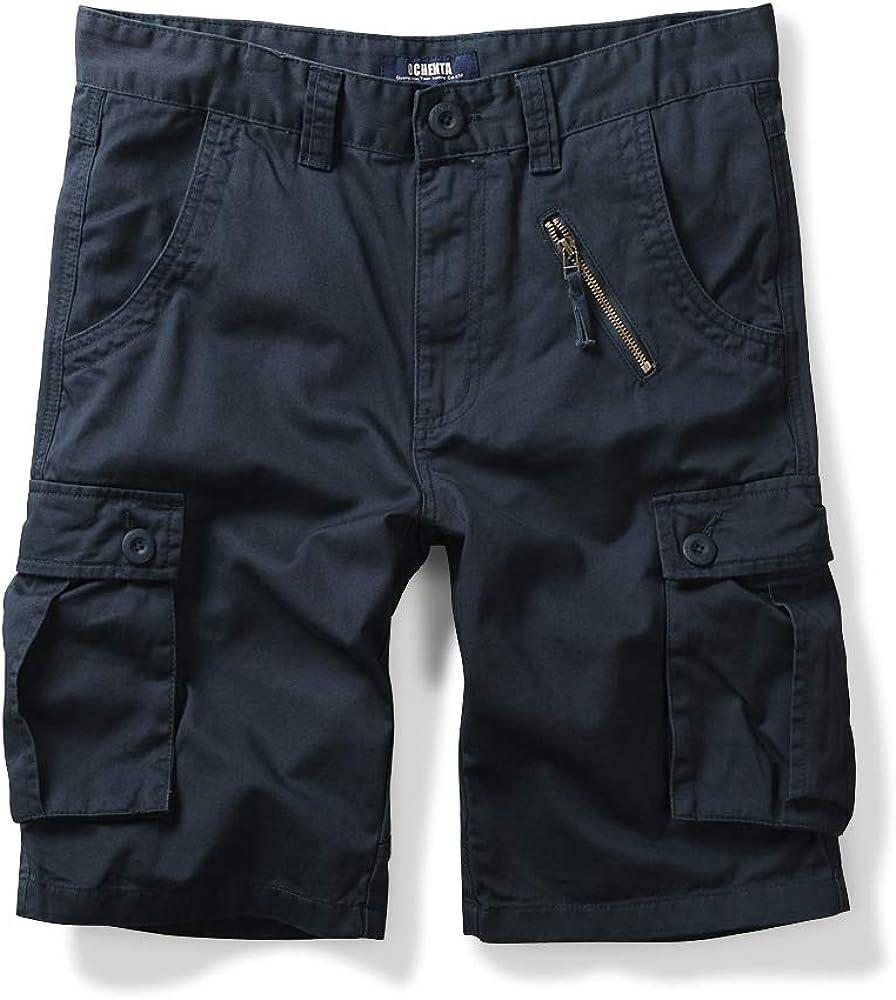 OCHENTA Men's Cotton Military Camo Cargo Shorts, 6 Pockets Casual Work Outdoor Wear