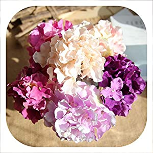 Memoirs- Artificial Flower Bunch of Hydrangea Bouquet DIY Silk Flower Bridal Bouquets Home Table Wedding Decoration Floral 60